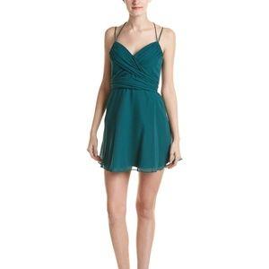 BCBGMaxazria Shay Halter-neck silk mini dress